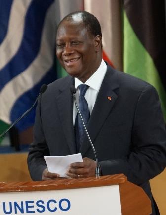 Alassane Ouattara président de la république de Côte d'Ivoire