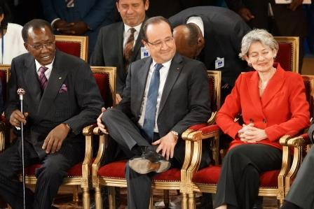 Déby Hollande Bokova 1