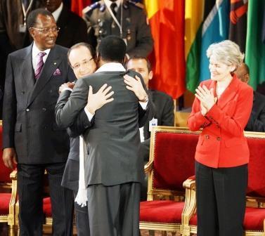 Idriss Déby Itno  - François Hollande - Traoré - Irina Bokova