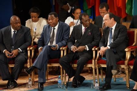 Yayi Boni - Idriss Déby Itno - François Hollande