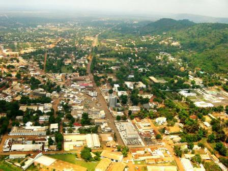 Vue aérienne de Bangui