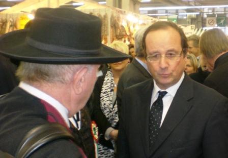 Le député François Hollande au SIA 2010 Paris