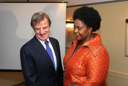 Les ministres des affaires étrangères français et d'Afrique du Sud