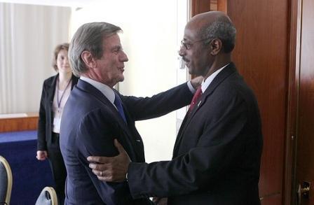 Les ministres des affaires étrangères français et d'Ethiopie