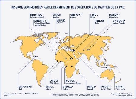 Opération maintien de la paix ONU