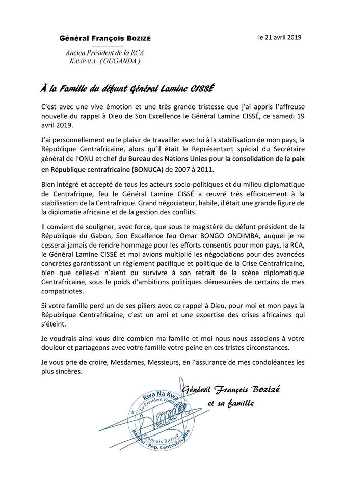 Ouganda François Bozizé Ancien Président De La R C A