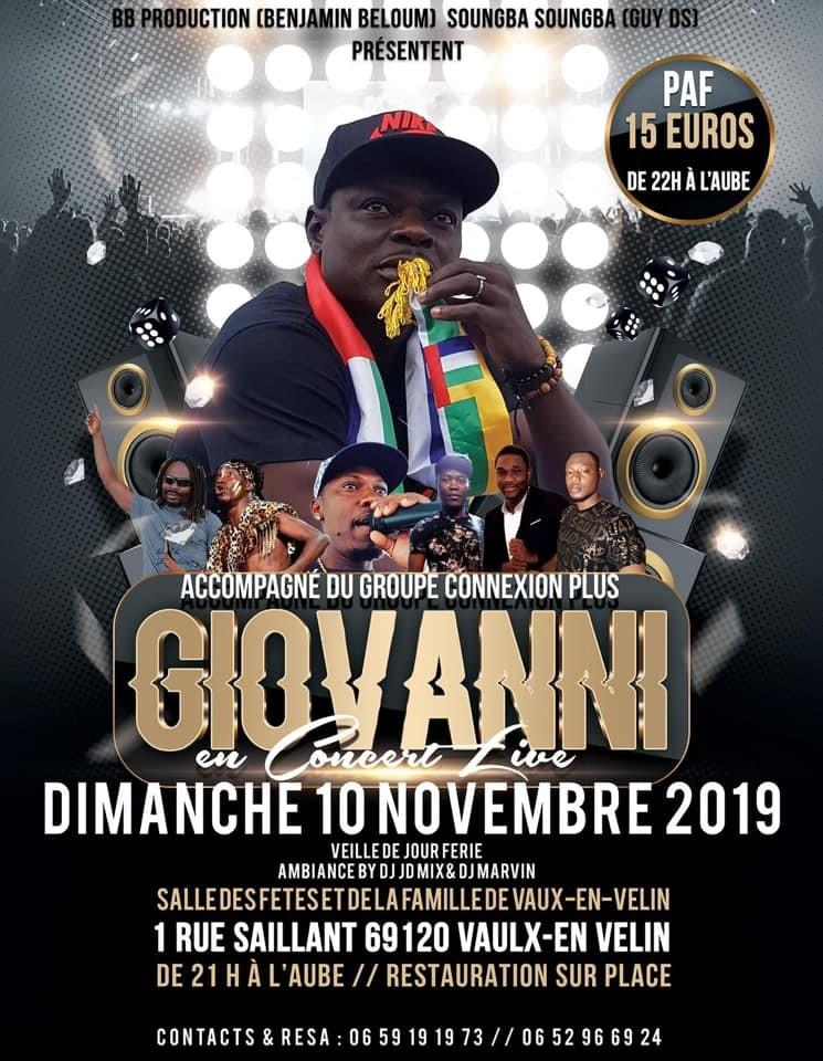 Vaux En Velin Giovanni En Concert Le 10 Novembre 2019