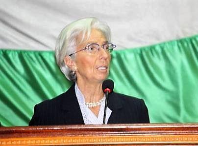 Lagarde a an bangui 25 janv 2017