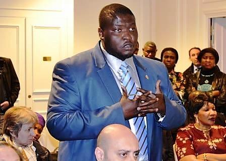 Nelson ndjadder intervenant de la presidente samba panza
