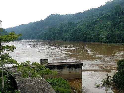 Sounda gorges aval barrage